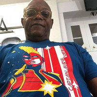Hot New Captain Marvel Tees Cosplay Costumes Men Women S.H.I.E.L.D. Chief Same Style T Shirt Navy Blue Cotton Printing Tops