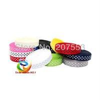 60yards 3 8 Inch 9mm Dots Grosgrain Ribbon Lots For Hair Bows 12 Color Mixed Bulk