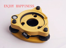 цены New Three-Jaw Yellow Tribrach W/Out Optical Plummet For Total Stations Surveying