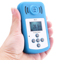 Oxygen Meter Digital Meter Portable Oxygen(O2) Concentration Detector with LCD Display and Sound light Alarm
