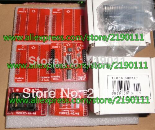 Free Shipping Double Pins Contact 100% Original V3 TSOP32 TSOP40 SOP44 TSOP48 Adapter 6pcs/lot for TL866A/TL866CS Programmer