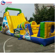 цена на Park boot camp inflatable obstacle course jumping game for kids factory direct sale giant inflatable obstacle course for sale
