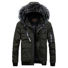 ZHAN DI JI PU Брендовая одежда мужские зимние парки с капюшоном и меховым воротником 115