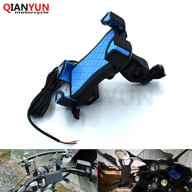 Universal Motorcycle Phone Holder Mobile Stand For Moto Support Usb