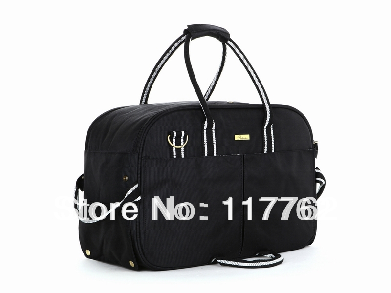 Free Ship Black 1680D nylon double-stranded Pet Dogs Carrier Bag Dogs Fashion Bag small puppy hand carrier bag