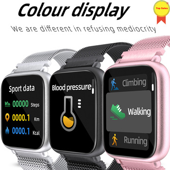 Smart Watch Bracelet Heart Rate Monitor Pedometer alloy case Fitness Tracker Blood Pressure Smartwatch For iphone Samsung huawei