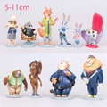 2016 NEW hot 8CM Zootopia Toys 10 Pcs/Set Best action figure toys Cool Christmas gift doll