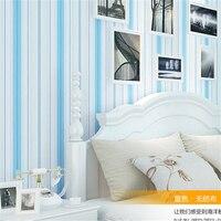 Beibehang地中海暖かい寝室リビングルーム壁の背景壁テレビフリンジ環境保護不織布壁紙