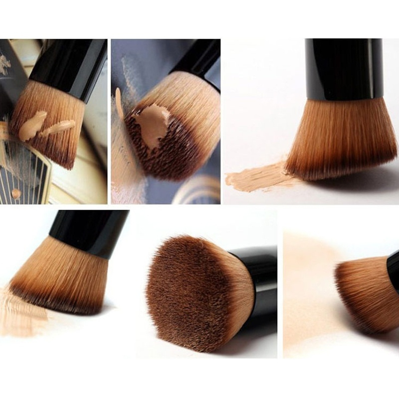 Wood Makeup Brushes Handle Face Concealer Powder Foundation Blush Liquid Cosmetics Make Up Brush Beauty Professional Tools fulljion 1pcs oblique head blush brush multi function foundation powder makeup brushes cosmetics tools wood handle 7 colors