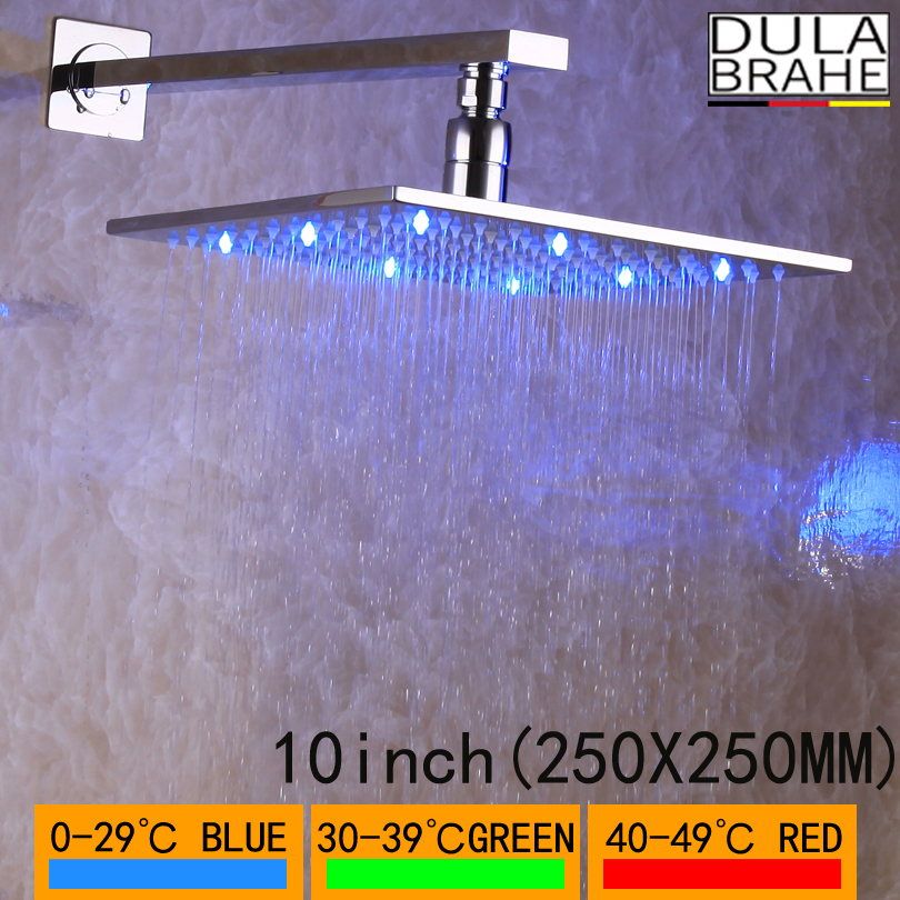 DULABRAHE Luxury Large Rain Shower Head Rotate 360 Degree Chrome Bathroom Rainfall Shower Head Water Saving High Quality