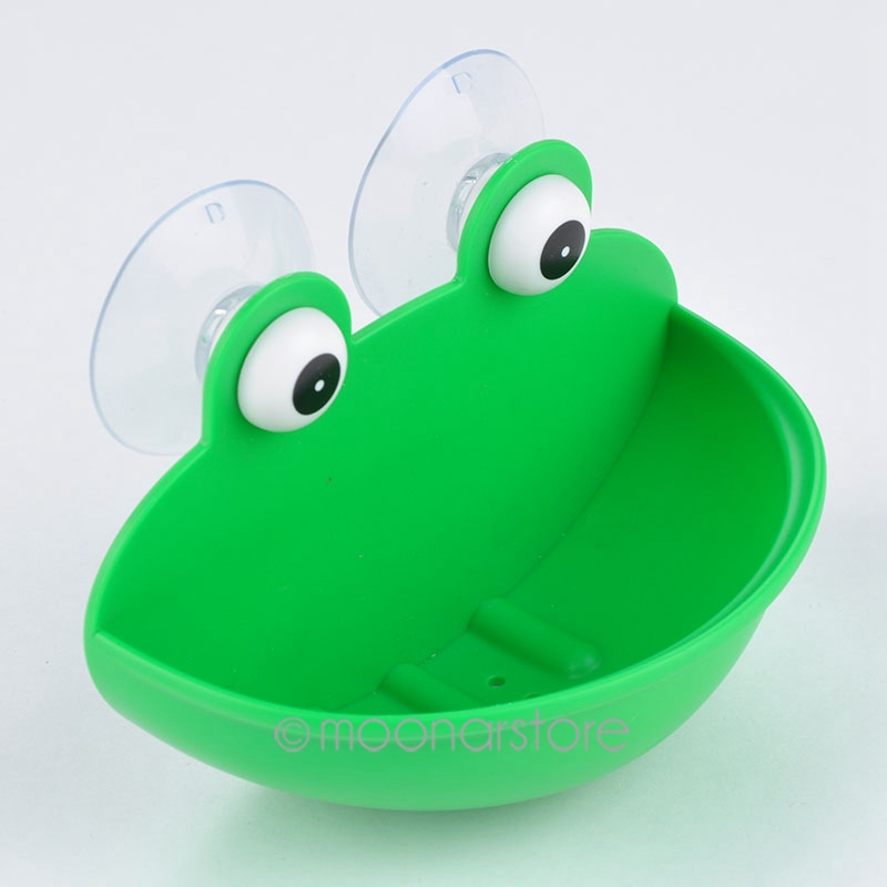 2020 Soap Dish Holder Kitchen Bathroom Accessary Durable With Suction Cups Frogs Shaped ABS Soap Case Household Accessory