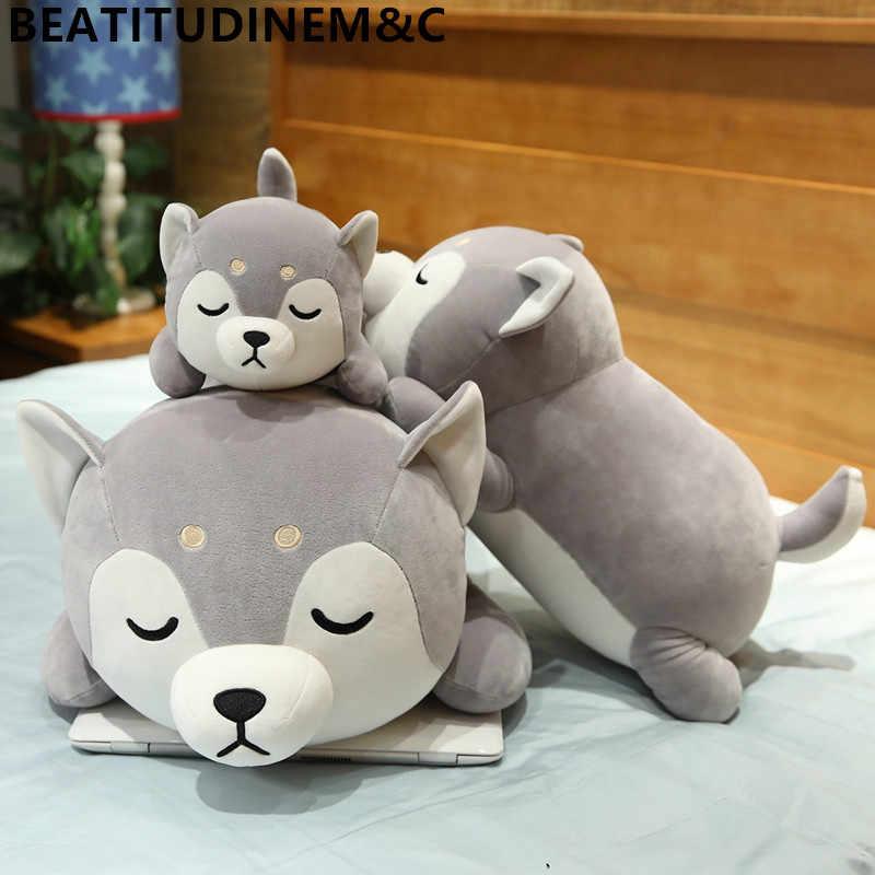 1 шт. 35 см-75 см мягкий теплый лечебный Стиль плюшевая собака хаски игрушки диванная подушка игрушки для домашний декор для детей подарок на день рождения