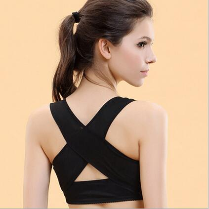 Lady Chest Brace Support Posture Corrector X Type Back Shoulder Vest Protector Clothes Body Sculpting Strap Tops MR00110
