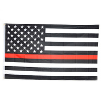 Thin Red Line 150X90CM Us American Flags Polyester Flag Foot with Grommets