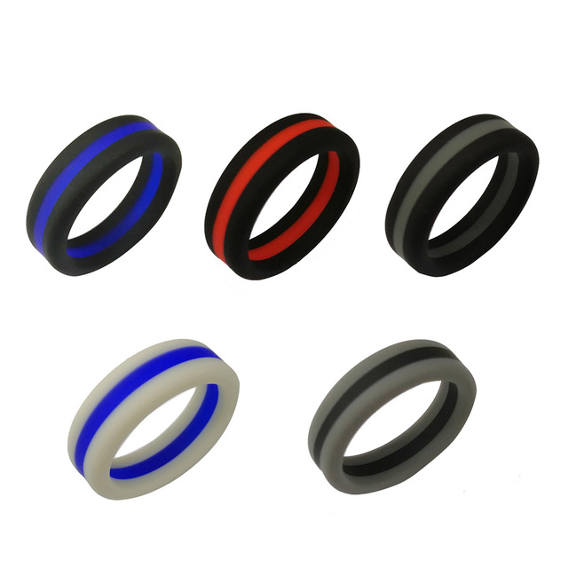 8mm Silicone Ring Rubber Flexible Ring Band Wedding Engagement Jewelry Gifts KQS