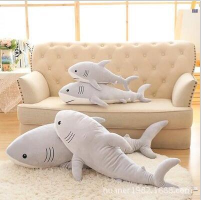 115 cm simulation jouets en peluche requin oreiller bourré de haute qualité poupée cadeau d'anniversaire - 4