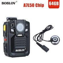 BOBLOV HD66-02 33MP A7L50 Ambarella 1296 P HD de Bolso Corpo Câmera de Visão Noturna Gravador de Vídeo de Segurança Da Polícia W/IR Lente externa