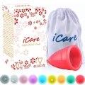 Icare Reutilizables Al Por Mayor de Grado Médico de Silicona Copa Menstrual Higiene femenina Producto Señora Menstruación Copo