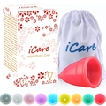 Icare Wholesale Reusable Medical Grade Silicone Menstrual Cup Feminine Hygiene Product Lady Menstruation Copo