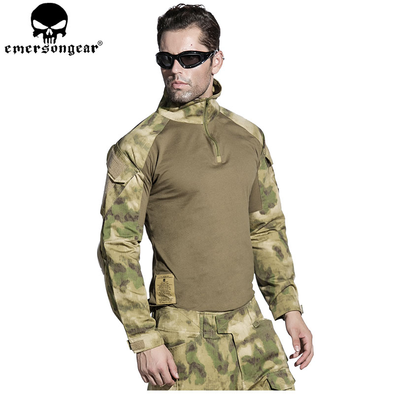 EMERSONGEAR Gen2 BDU Combat Uniform Tactical Shirt Pants with Elbow Knee Pads Military Camouflage Hunting Clothes ATFG EM6922 military uniform multicam army combat shirt uniform tactical pants with knee pads camouflage suit hunting clothes
