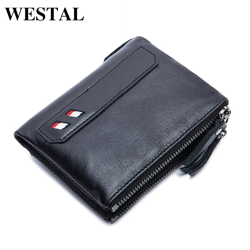 WESTAL Small Men Genuine Leather Wallet Men Wallets Male Clutch Coin Purse Mens Wallets Male Man Wallet Credit Card Holder 8836