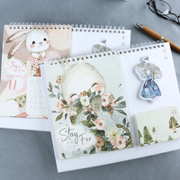 1 Pcs Set Kawaii 2018 Multi Function Desk Calendar Cartoon Illustration Rabbit Desktop Large Calendar Scheduler