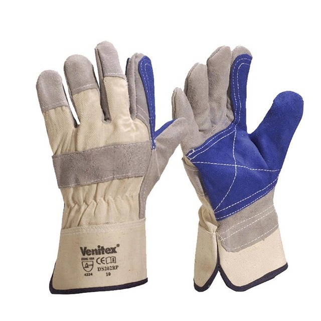 Leather Canvas Abrasion Safety Working Protective Leather Welding Gloves Welder Gloves drop shopping leather canvas abrasion safety working welder gloves mechanical working leather welding gloves