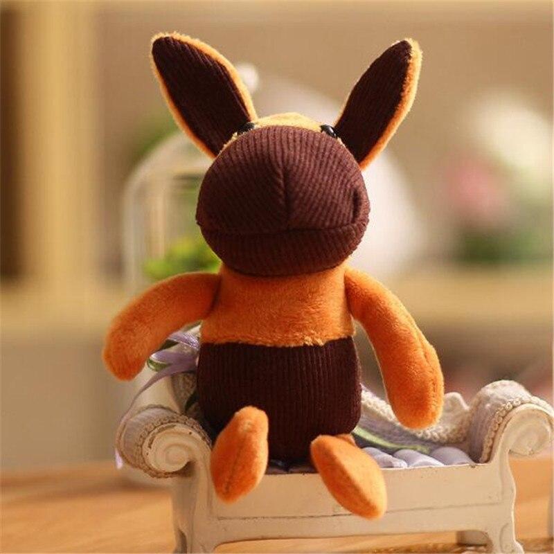 HANDANWEIRAN 1PCS New Big Ear Donkey Pendant Plush Toy Korean Version Of The Mini Cute Donkeys Toys Company Activities Gift 18CM in Stuffed Plush Animals from Toys Hobbies