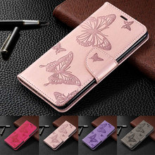 PU Leather Flip Case For Xiaomi Redmi 7 6 Pro 3D Butterfly Phone Note Purse Pouch Wallet Capa