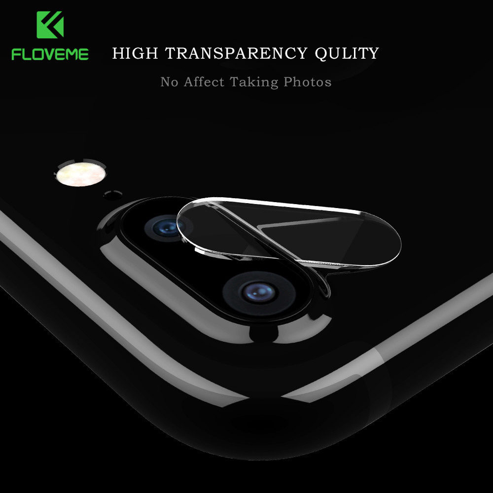 FLOVEME Phone Lens Screen Protector Film For iPhone 7 8 Plus Case Transparent Screen For iPhone X Case Camera Len Tempered Glass