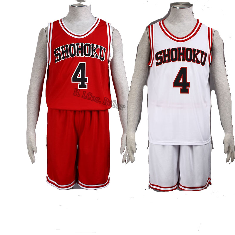 New Arrival SLAM DUNK Shohoku High No.4 Akagi Takenori  Cosplay Costume the First Generation and Second Generation