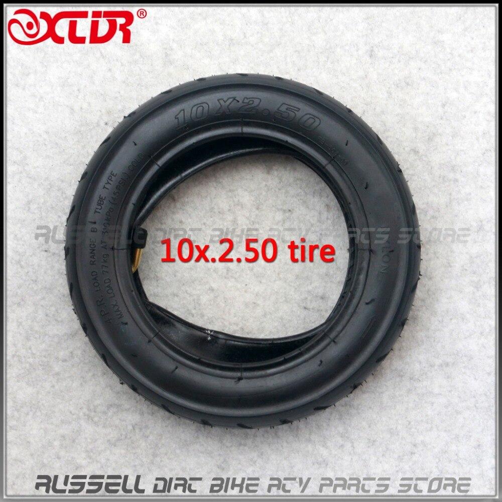 Neumático y tubo interno para patinete eléctrico Quick 3 Inokim OX ZERO 10, 10x2,50, plegable, con válvula curvada, ruedas delanteras y traseras
