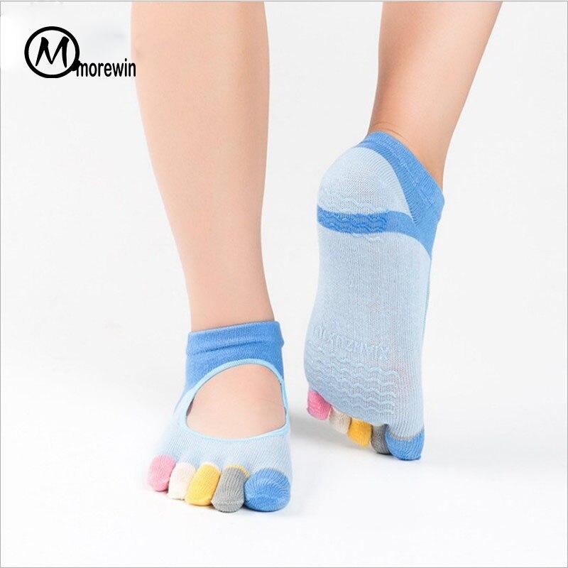 5pairs Women Yoga Sock Pilates Five Toes Anti Slip Шұлықтар - Спорттық киім мен керек-жарақтар - фото 5
