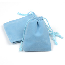 Купить с кэшбэком 100pcs/lot 7x9cm 9x12cm Jewelry Packaging Display Drawstring Packing Gift Bags & Pouches Coloful Velvet Pouches