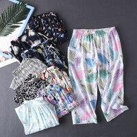 100% Cotton Pajama Pants for Home Lingerie Pants Pajamas Underwear for Women Sleepwear