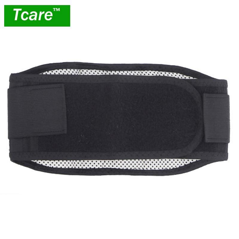 Купить с кэшбэком * Tcare Adjustable Tourmaline Self heating Magnetic Therapy Waist Support Belt Lumbar Back Waist Brace Double Band Health Care