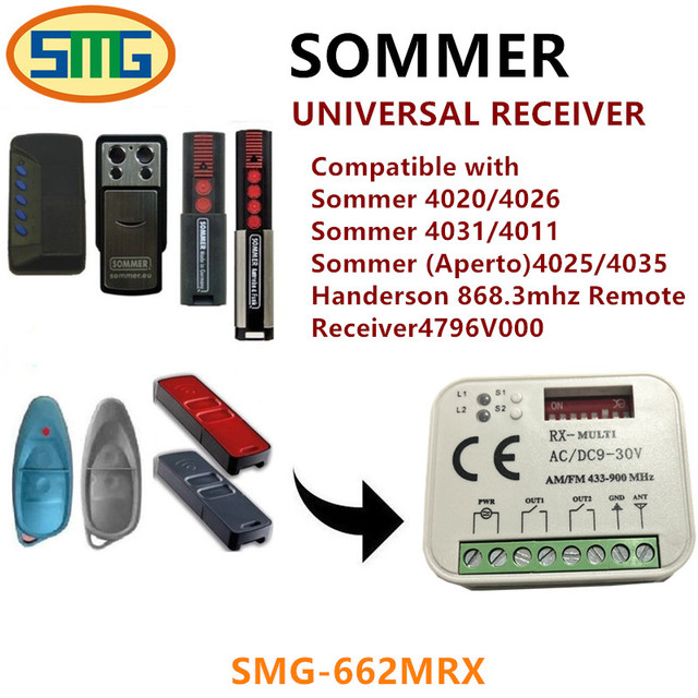 Sommer 4797v000 External Receiver 315 Mhz Garage Door Opener Lti
