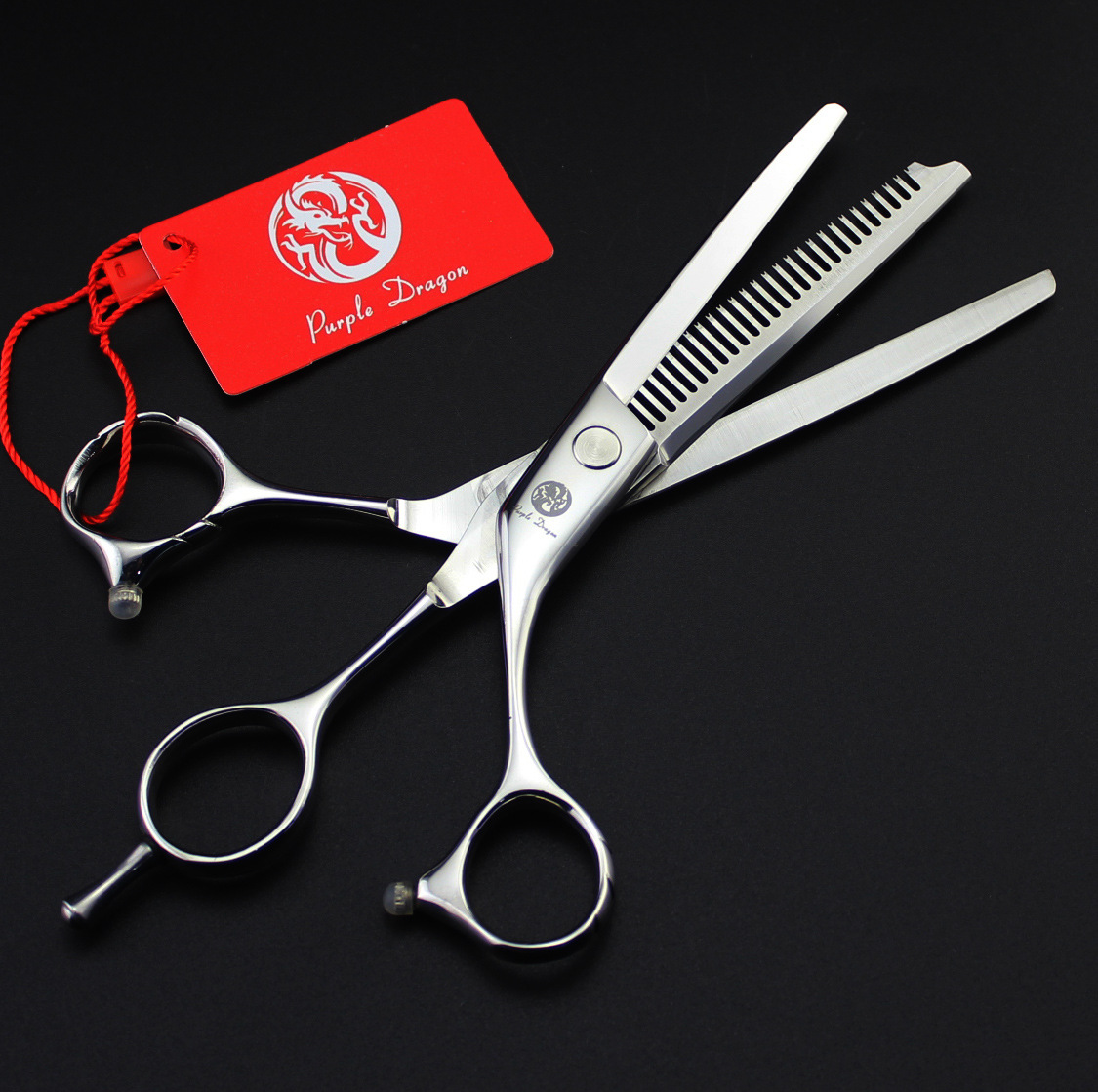 6.0 inch Double with flat teeth cut hair scissors cut cut flat + tooth double personality cut