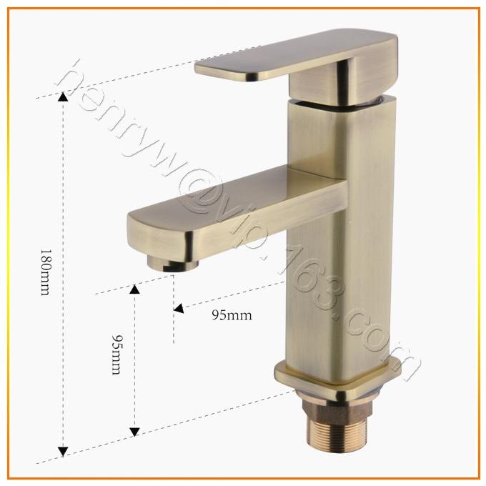 L16326 - Luxury Bronze Hot & Cold Water Brass  Basin TapL16326 - Luxury Bronze Hot & Cold Water Brass  Basin Tap
