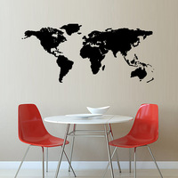 Colorful World Map Wall Sticker Decal Vinyl Art Kids Room Office Home Decor Large Size New