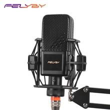 FELYBY BM1000 Audio Studio Karaoke Condenser Microphone For Computer/Laptop/Phone bm 800 Upgraded Mikrofon With Shock Mount