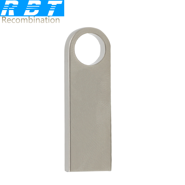 2015 RBT Real Capacity  Waterproof Metal Silver Key Ring 8GB 16GB 32GB Pen Drive Pendrive Usb Flash Drive For PC Free Shipping