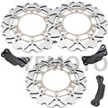 1 Set Motorcycle Front & Rear Brake Disc Rotor For TMAX500 TMAX 500 2008- 2013 09 10 11 12  Silver Steel Free Shipping