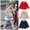 Retail Girls coat/jacket children soild coats Kid's long sleeves fashion cardigan for 2-6 years child 3 colors