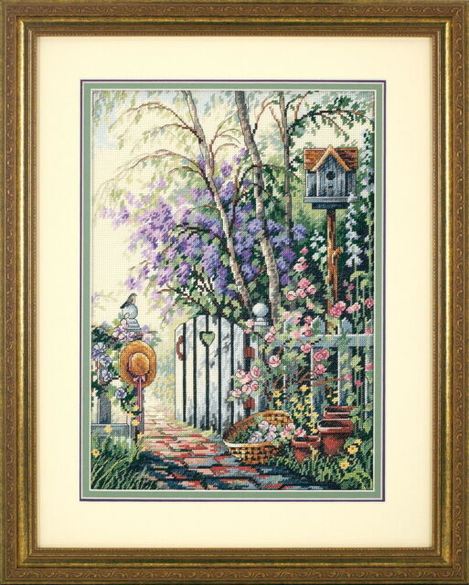 Amishop Gold Collection Counted Cross Stitch Kit Garden Gate Door