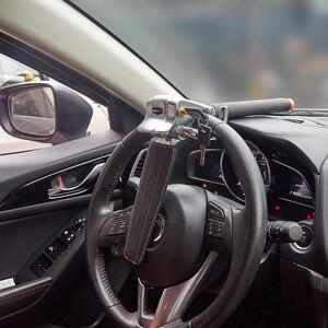 Image 3 - Steering Wheel Lock Foldable Anti Theft Security Car Locks Auto Steering Lock