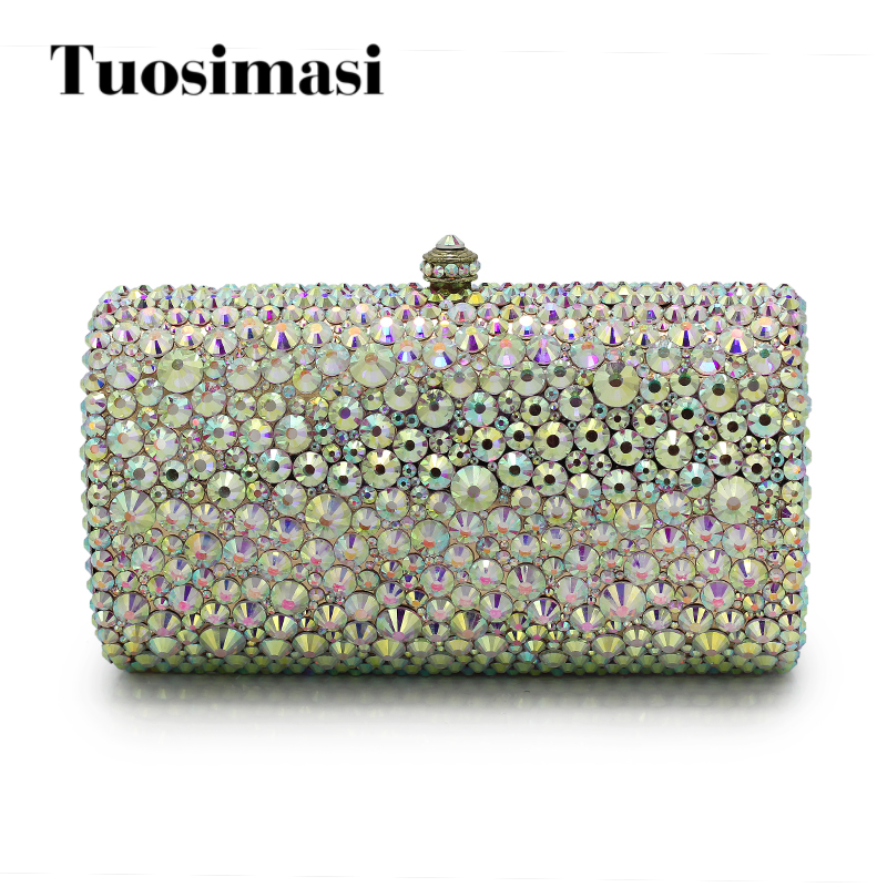 Jeweled clutch Wedding Bridal purse Luxury Diamond Evening Bags Lady Day clutch wallets Women Crystal Party Bags(1017-JP)