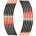 12 Strips KTM Duke 200 Duke 390 CFMOTO 150NK motorcycle wheel Sticker Decals Waterproof for 17/18inch tires