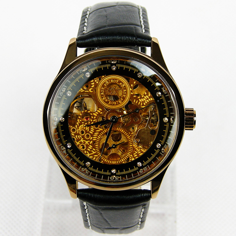 2015 New Luxury Men's Vintage Skeleton Mechanical Watches ...