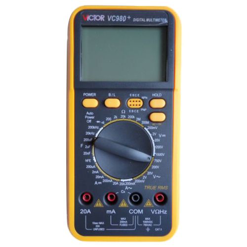 Victor Digital Multimeter 4 1/2 T-RMS Res Cap Freq Diode Continuity VC980+ more 2ed 2 sb cyber homework online res